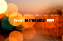 Revert to frugality now - 01