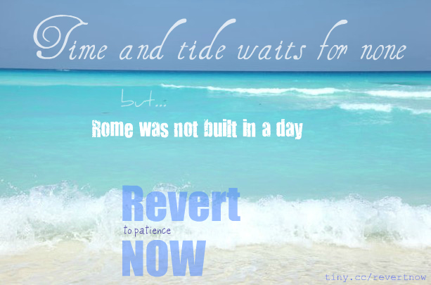 Revert to patience now - 01