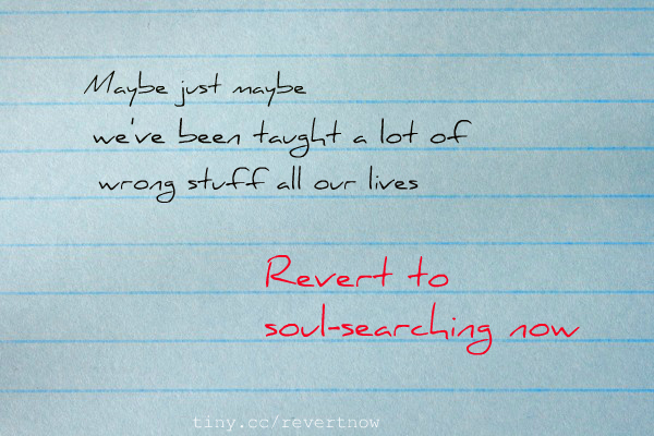 Revert to soul searching now - 02