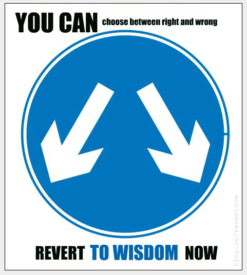 Revert to wisdom now - 06